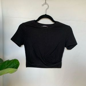 Zara Black Twist Front crop top